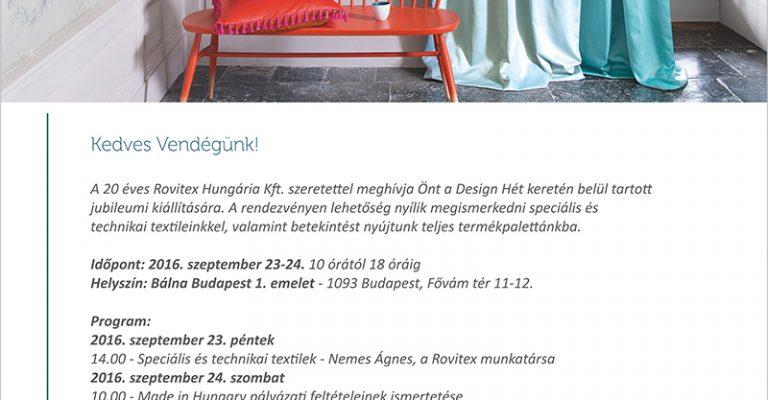 Design Hét Budapest 2016>