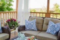 Függöny az erkélyen, a teraszon és az udvaron>