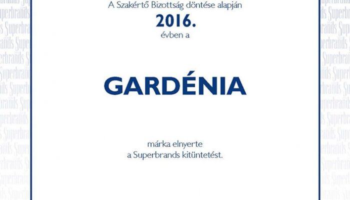 Ismét Superbrands díjas lett a Gardénia>